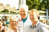 Bürgermeisterin Reismann mit Jochen Temme und Fabian Wegmann. Foto: anh.