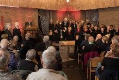 Chor in der Christuskirche in Wolbeck, hinten das Kreuz.