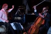 Clemens Kröger und Daniel Sorour in Wolbeck als Modern Cello-Piano-Duo. Foto: A. Hasenkamp, Fotograf in Münster.