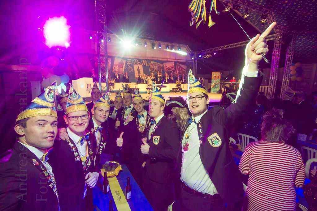 Die Jukas feiern mit bei der Gala 2016 der KG ZiBoMo. Foto: A. Hasenkamp, Fotograf in Münster.