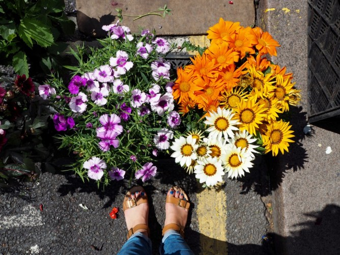Columbia Road Tiny Trail - Flowers and Feet