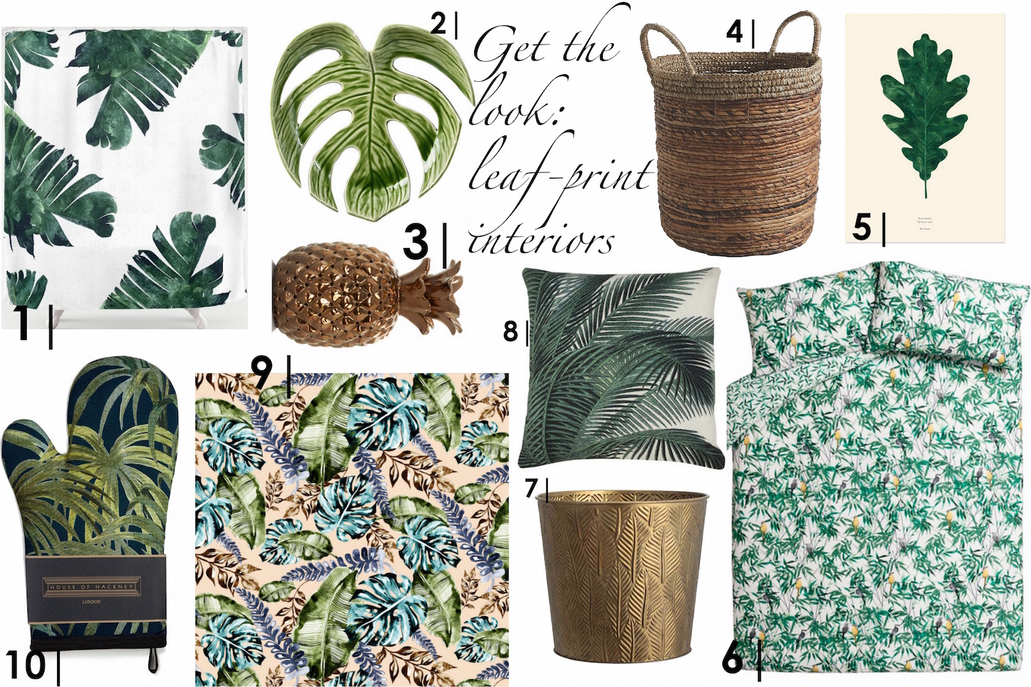 Get the Look: Leaf-Print Interiors   Wolf & Stag
