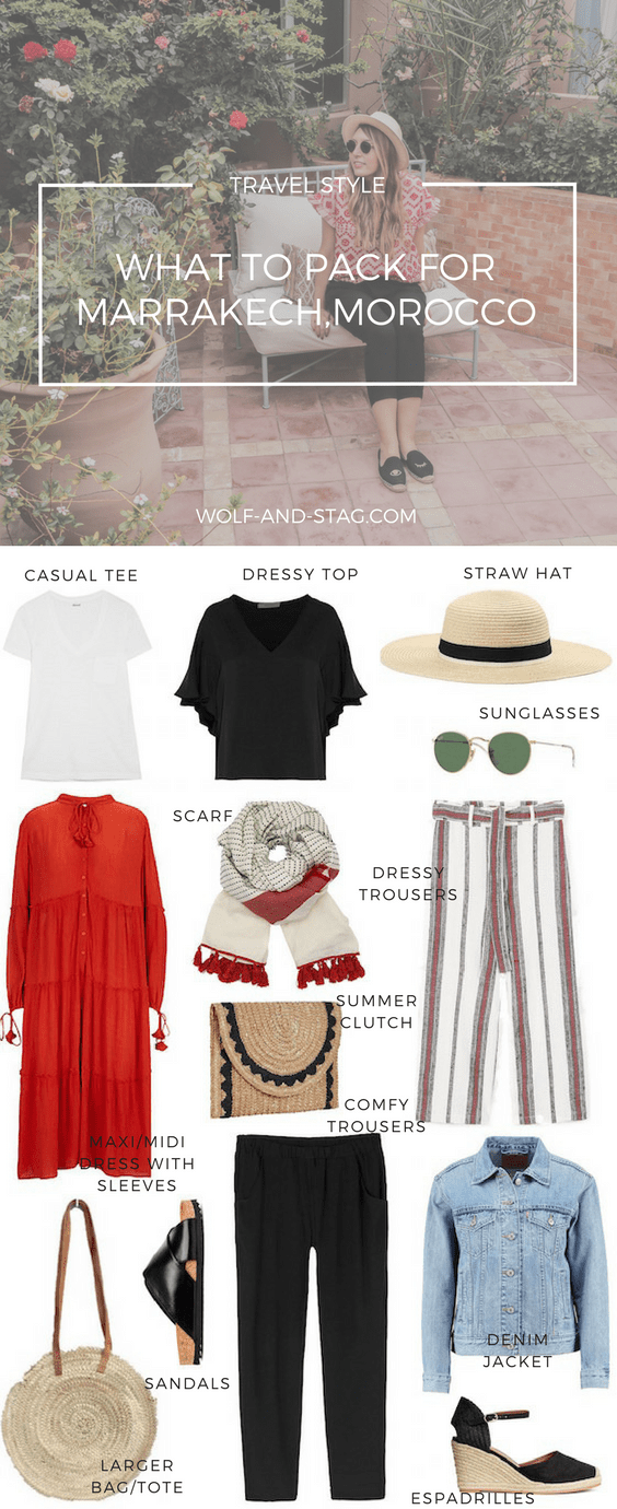 Travel Style: What to Pack for Marrakech, Morocco   Wolf & Stag