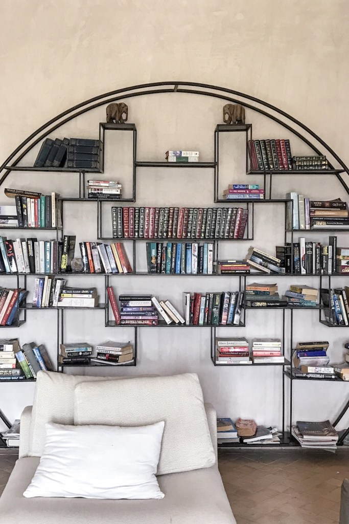 The library in the Hotel Capaldi, Marrakech, Morocco