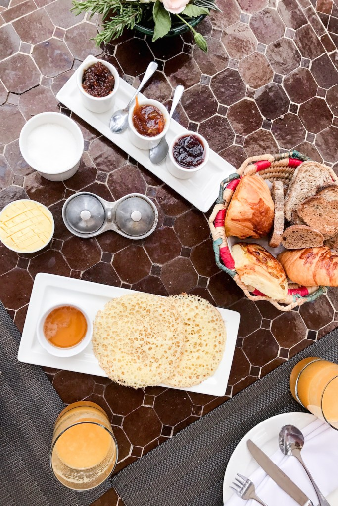 Breakfast at the Hotel Capaldi, Marrakech, Morocco