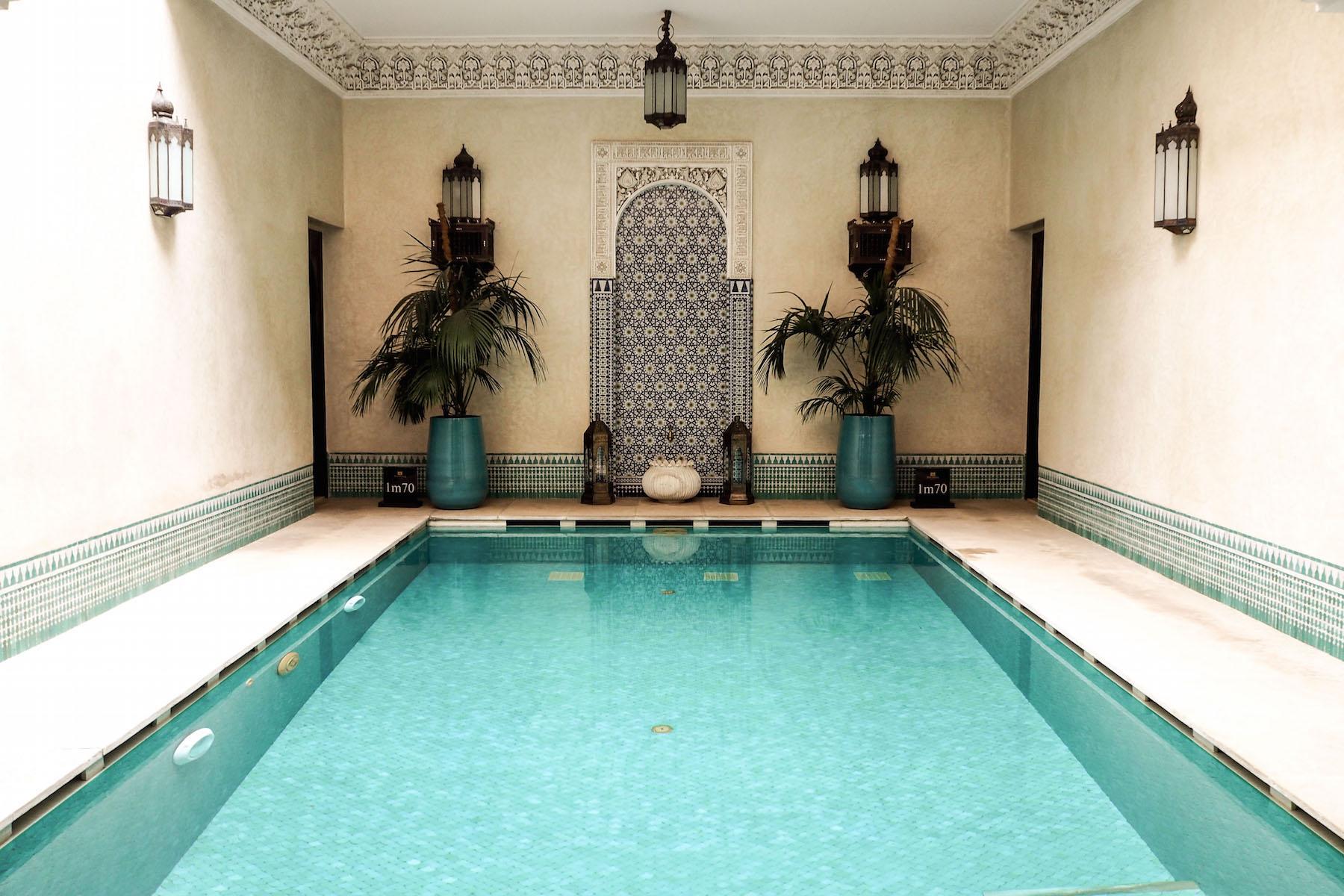 The pool at Riad Kniza, Marrakech