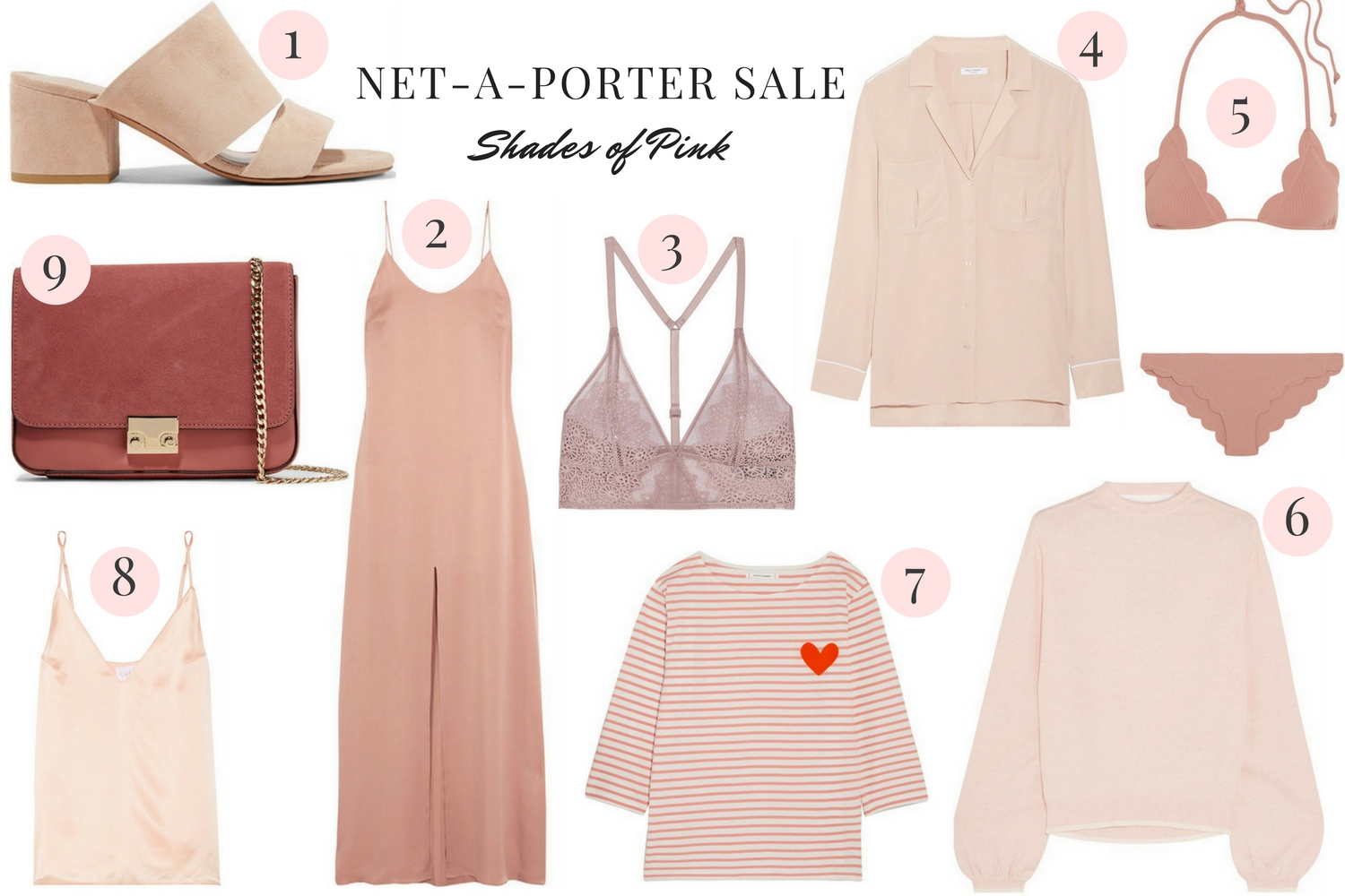 Net-a-porter sale - finds under $300 - shades of pink