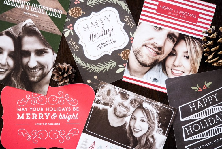 Personalised holiday greeting cards with Basic Invite | Wolf & Stag