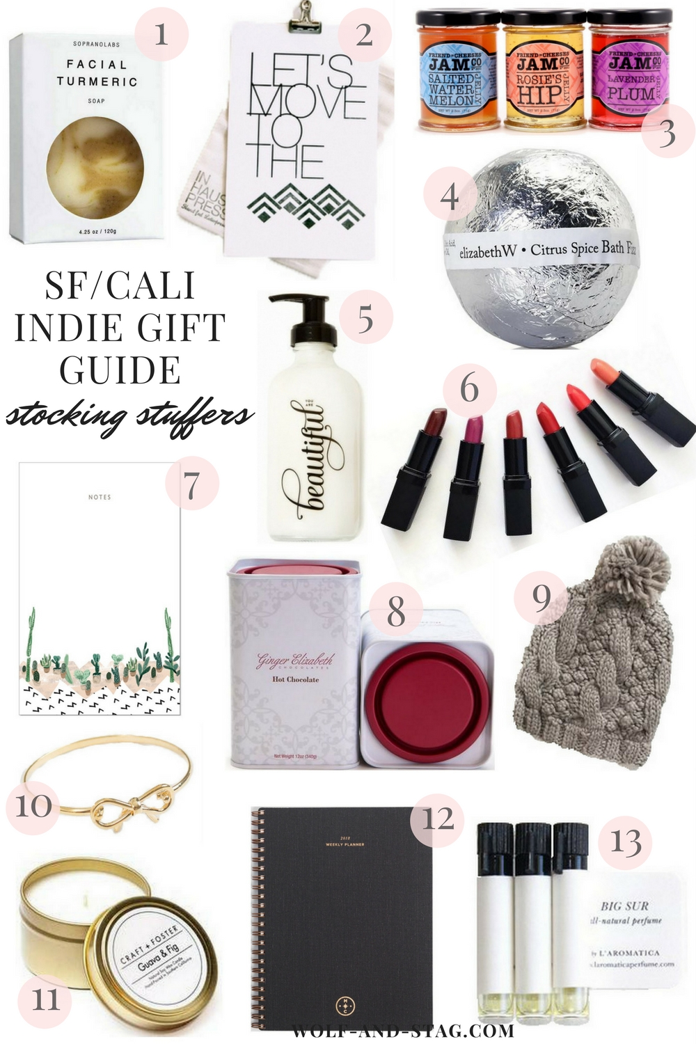 Holiday Gift Guides 2017 | Featuring the best stocking stuffers from independent makers, retailers and brands from San Francisco | Wolf & Stag