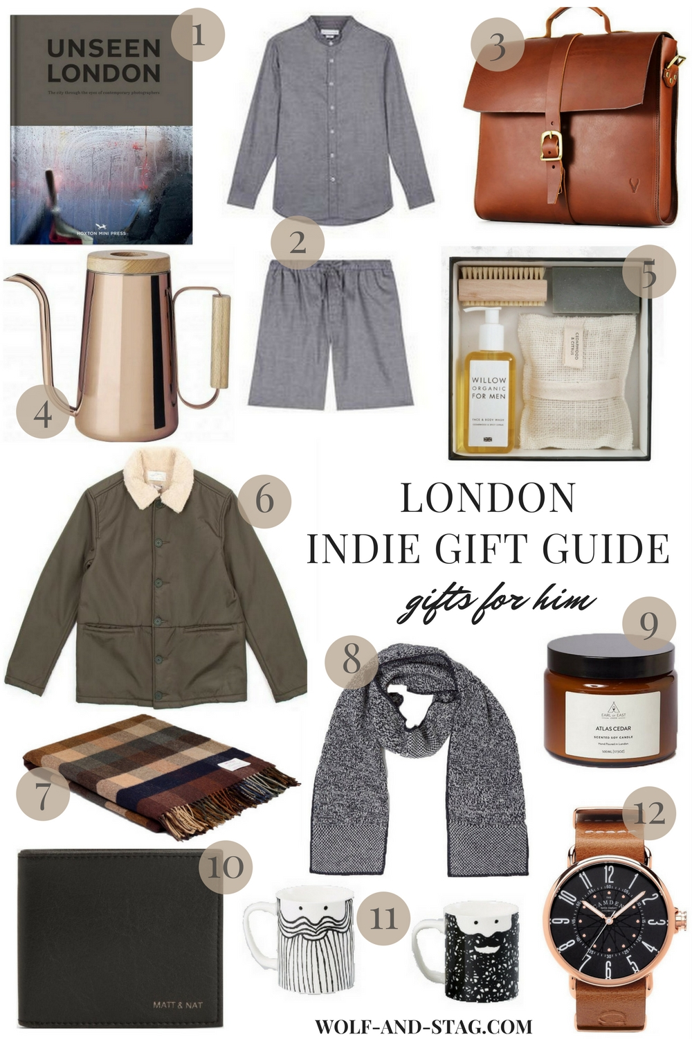 Holiday Gifts for Him, featuring the best of independent makers, brands & retailers from London | Wolf & Stag