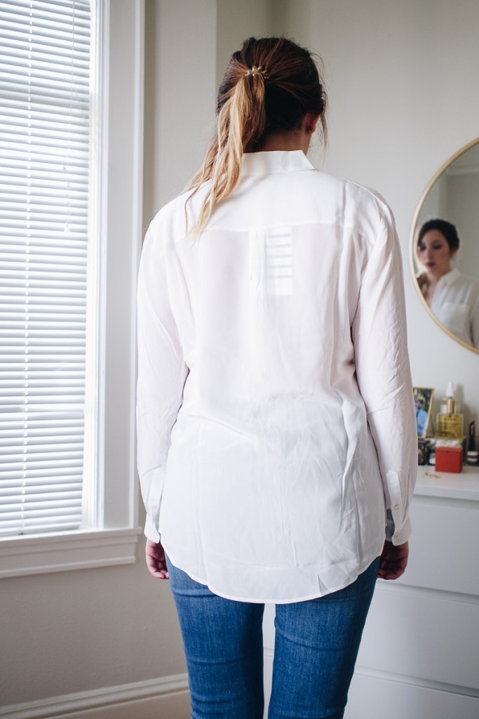 An Honest Review of Sezane   Featuring the Boy Shirt in Ecru in a Size US 6   Wolf & Stag