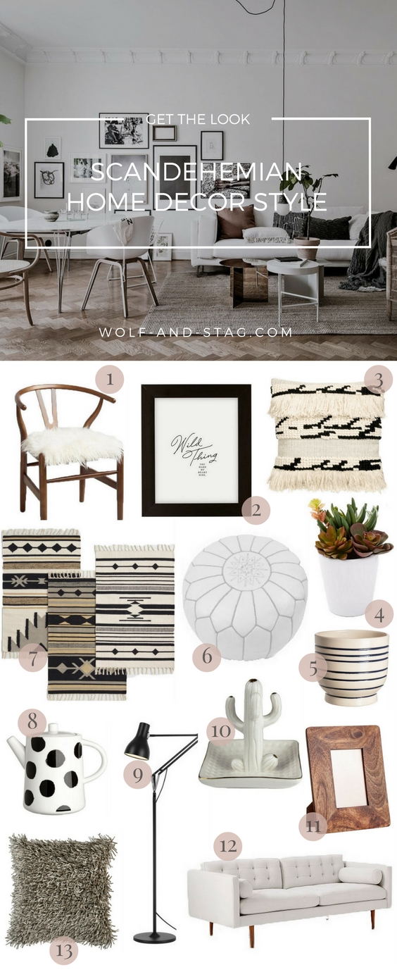 Get the Look: Scandehemian Interiors (Scandi-Boho) | Wolf & Stag