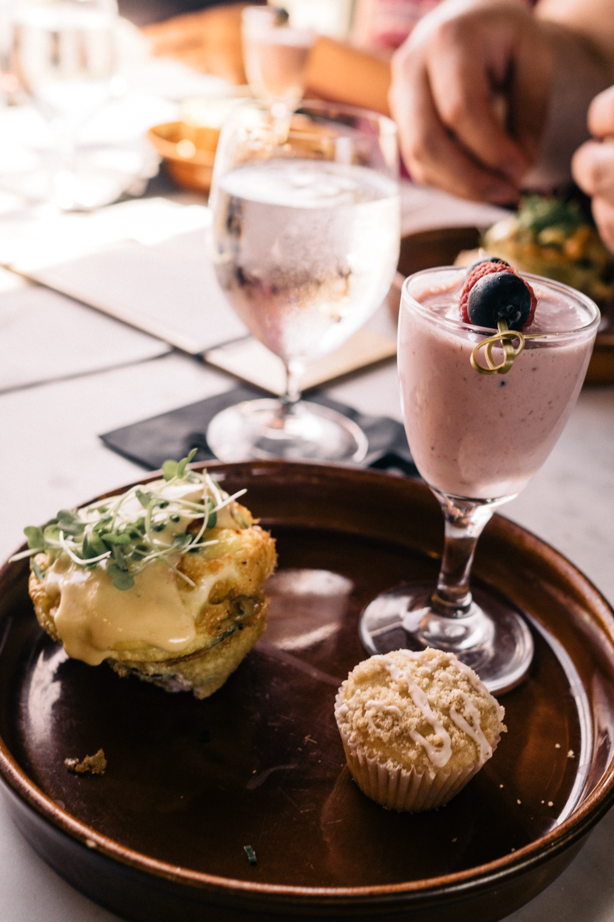 All Aboard the Napa Valley Wine Train | Breakfast of savory frittata with chive and hollindaise | Wolf & Stag