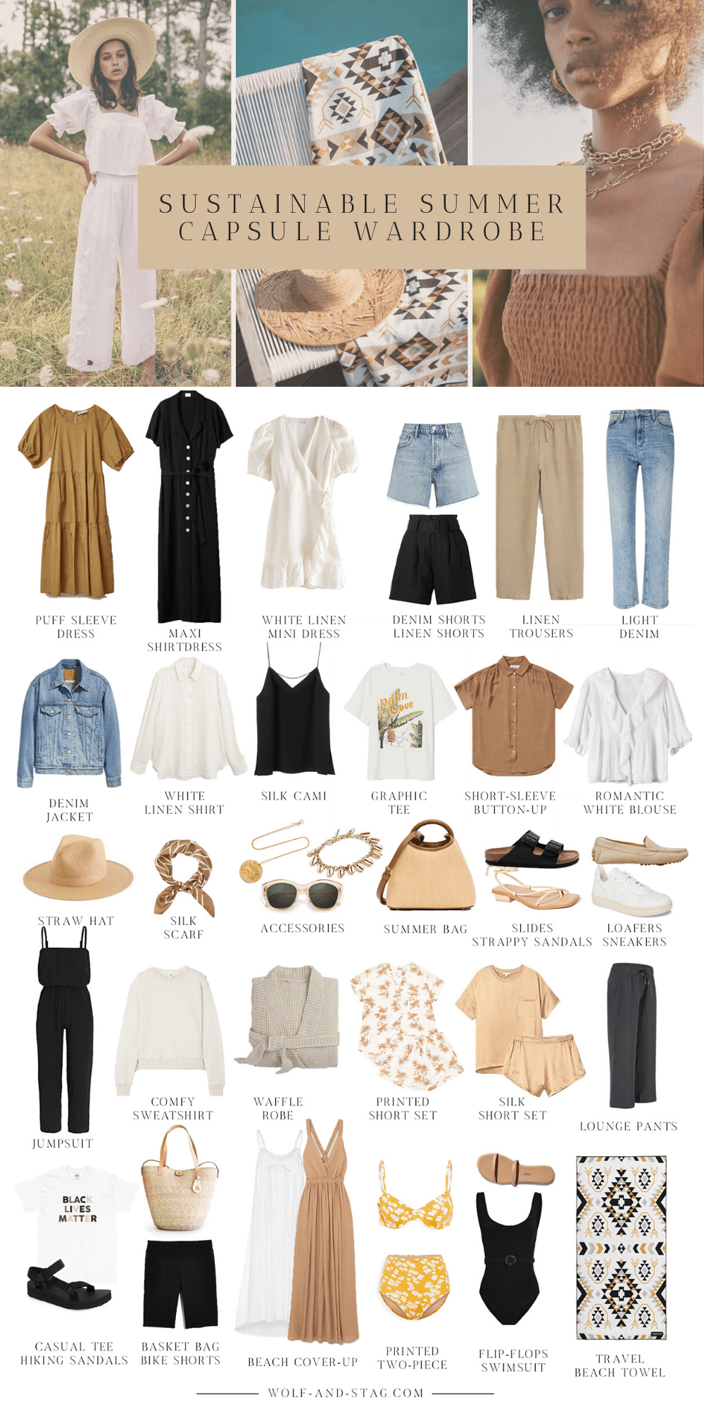 The Mostly Sustainable Summer Capsule Wardrobe, Summer 2020 | Wolf & Stag