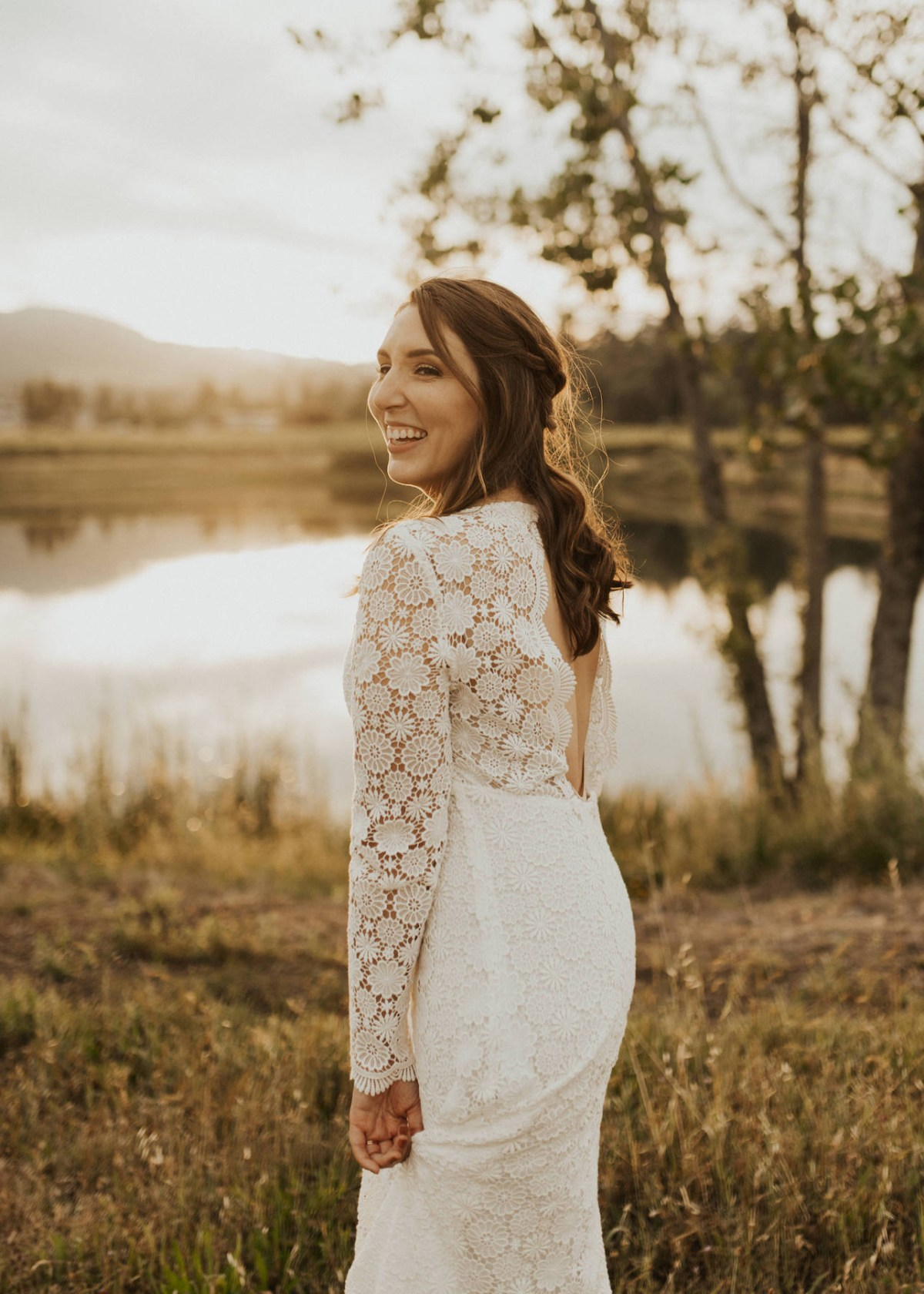 A review of my affordable wedding dress, the Agnes dress by Sezane | W&S