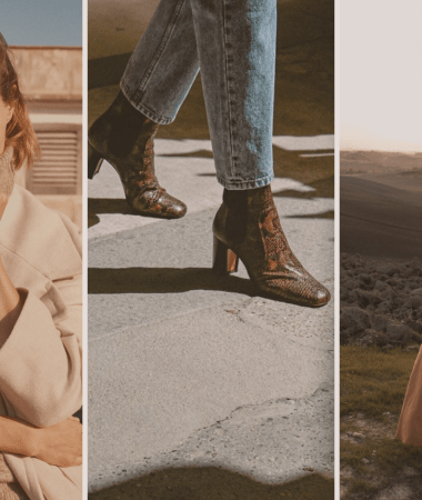 The (Mostly) Sustainable Autumn Capsule Wardrobe Feature Image | images from Mango and Bedra Vintage | W&S