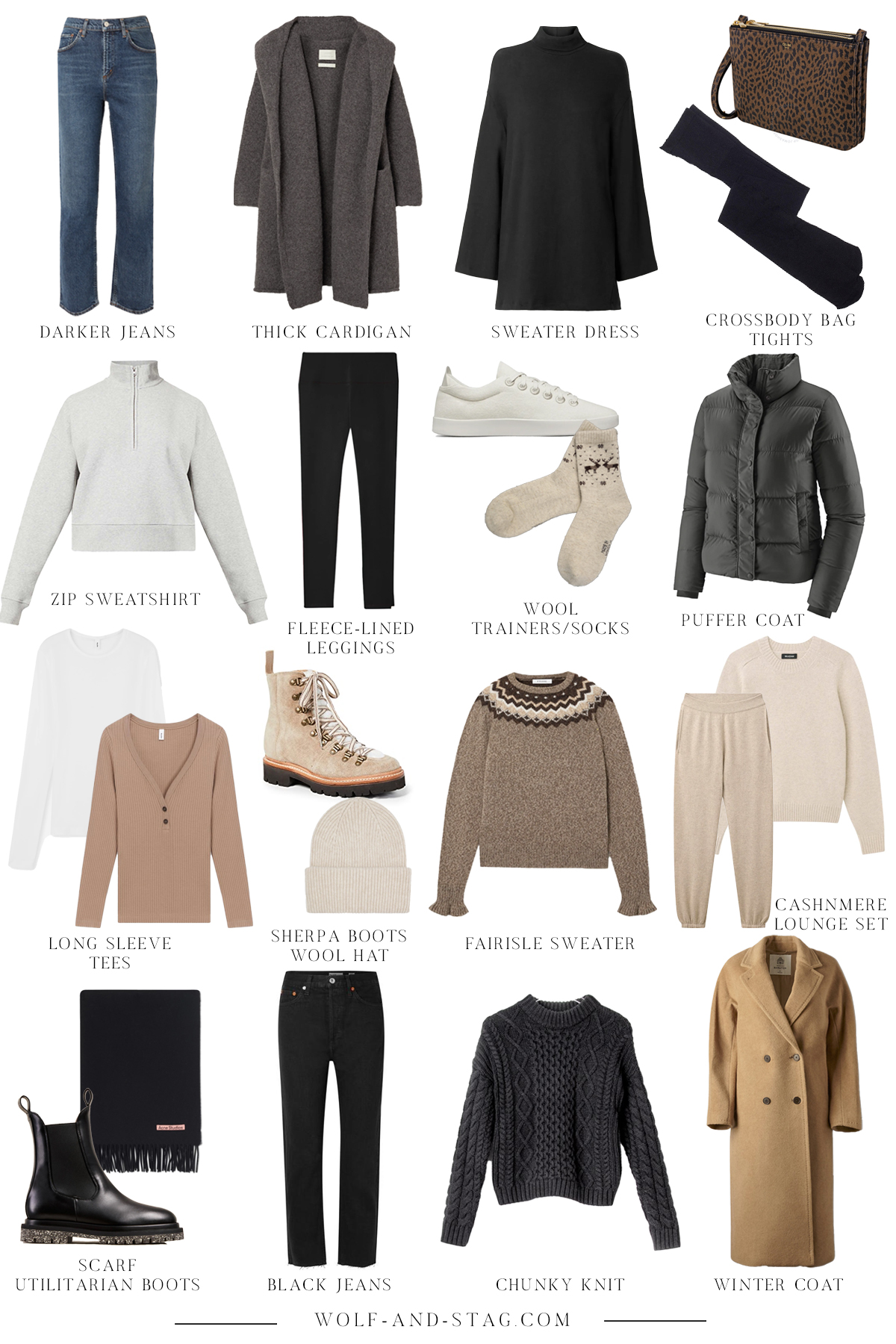 The (Mostly) Sustainable Capsule Wardrobe - a winter update | the cozy, comfy, and sustainable pieces to add to your capsule wardrobe for winter | W&S