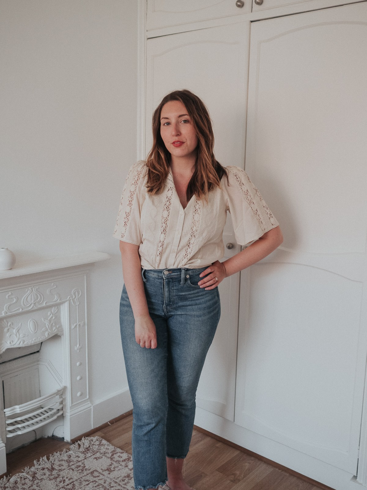 An honest review of Sezane | Jane Embroidered Cotton Blouse in Cream | W&S