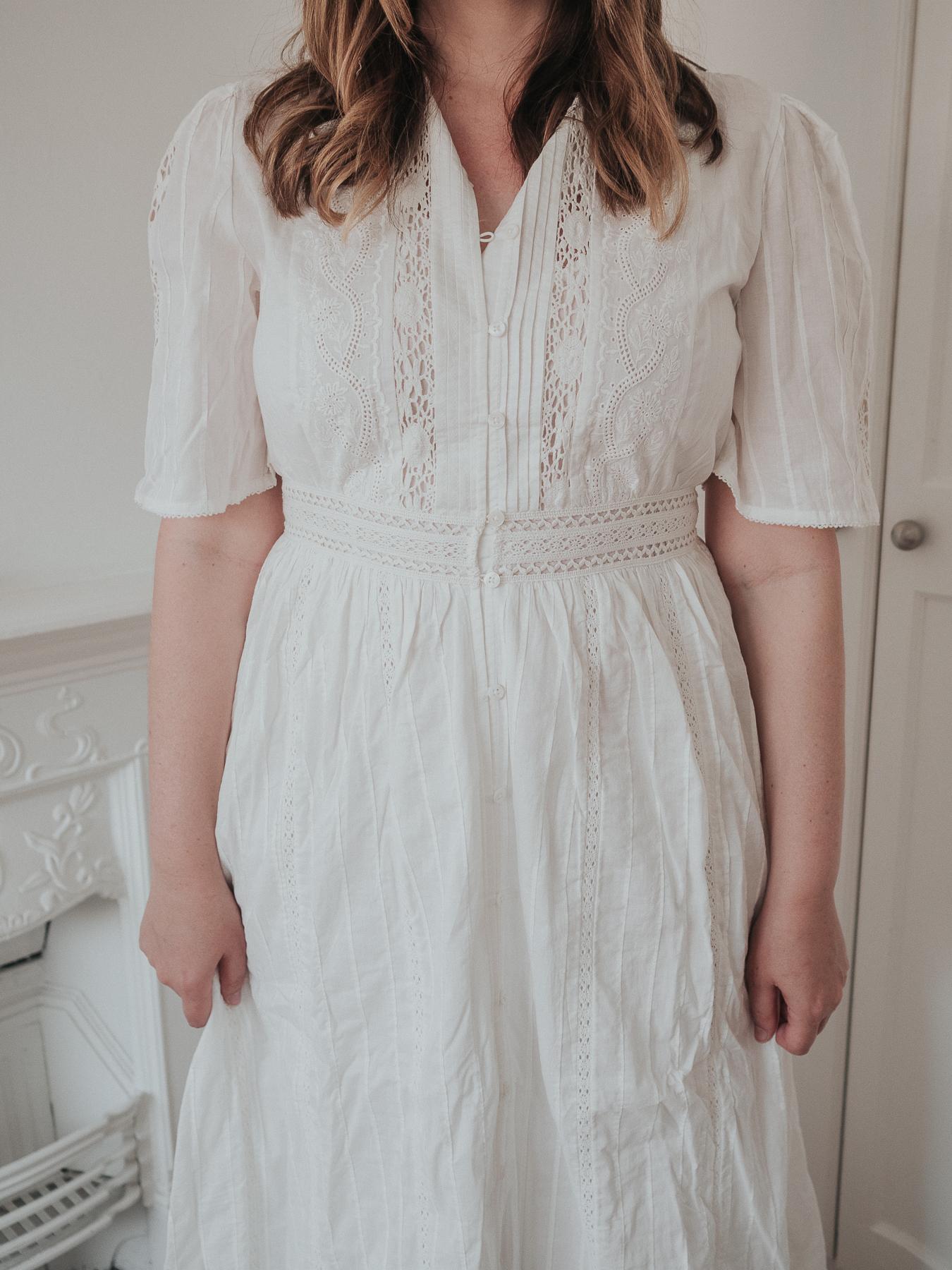 An honest review of Sezane | Maitena white maxi embroidered cotton dress | W&S