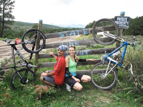 After climbing 4000ft in 22 miles, we crossed from Colorado to Utah
