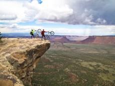 Precarious views from the Porcupine Ridge Trail in Moab, Utah.