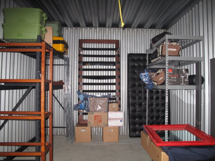 Our storage unit in the beginning