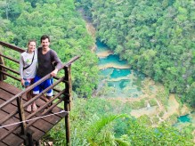 Stunning view from the Semuc Champey mirador. Quite a hike in the heat.