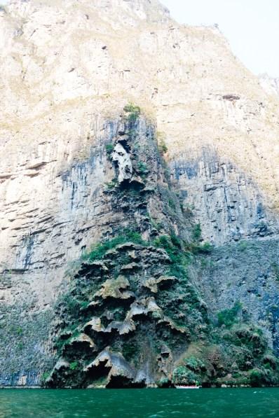 The christmas tree waterfall at Cañon de Sumidero