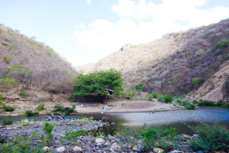 Another view of our Campsite at Somoto Canyon. The Wolf had to be coerced in not trying to cross that river