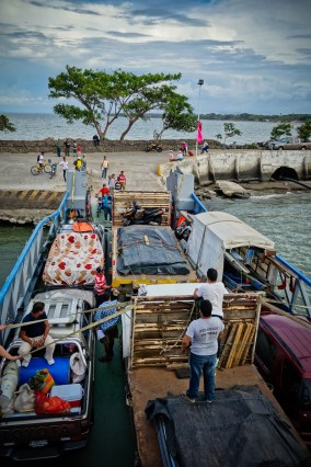 Fully loaded ferry to Ometepe