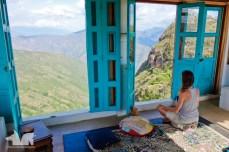 The yoga room at Refugio de la Roca. Sublime.