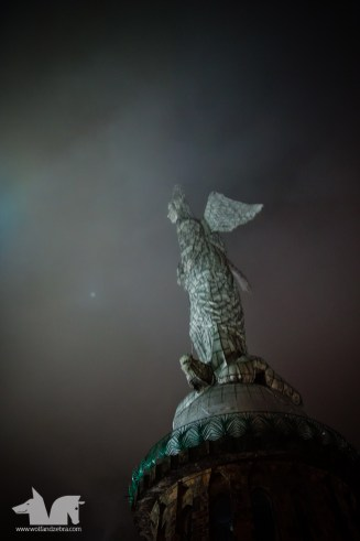 La Virgen del Panecillo, a 45m tall winged madonna keeping a watchful eye over the Capital of Ecuador