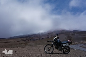 The Wolf mobile once again caught red-handed hanging out where it is not supposed to, the Cotopaxi Volcano