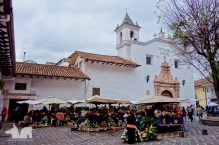 One of the several street markets punctuating the like of most South American villages