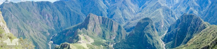 A panoramic view of the surroundings of the Machu Picchu