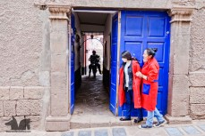 Our slim DR exploring Cusco back alleys.
