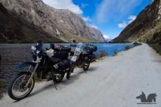 Enjoying the lakeside views in Huascaran National Park