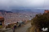 La Paz, creeping up the surrounding mountains