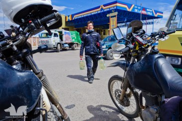 This is how you have to buy gas in Bolivia as they don't like selling to foreigners