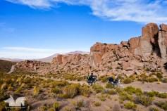 Rocky outcrops in the Reserva de Fauna Andina Eduardo Avaroa