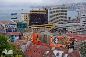 In Valparaiso the side of almost every building is painted