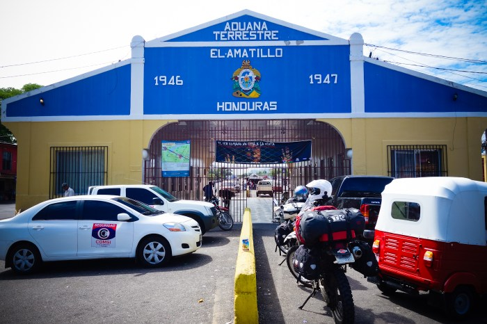 The Aduana building at the Honduras border of El Amatillo