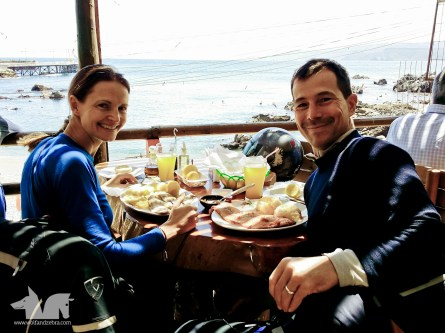 Enjoying a romantic lunch at Restorán Pezcadores in Quintay