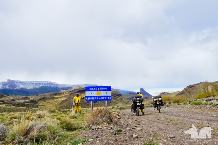 Boldly riding into Argentina at the most southernmost border you can cross by bikes.