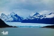 A panoramic view of the Perito Moreno glacier.