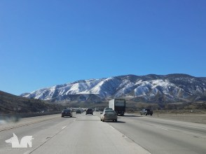 On our way to LA, surprised to see snow on the Grapevine mountains. Also enjoying fluid traffic between L.A.'s nightmare
