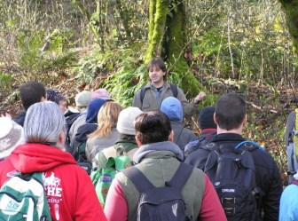 Chris Chishom instructing group of program participants.