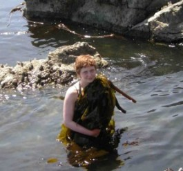 Gathering Bullwhip Kelp to dry for Electrolyte replinishment