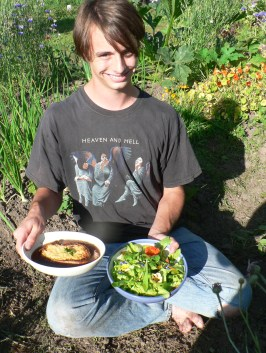 Wilderness Chef Charlie Borrowman with his next blog post on Wild French Onion Soup & Salad