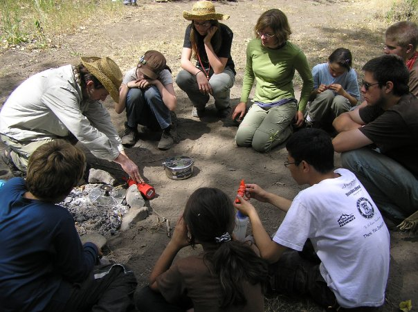 Chris Teaching How to Safely Set-up a Whisperlite Stove